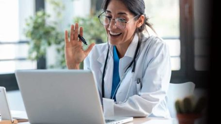 Virtual visit with doctor